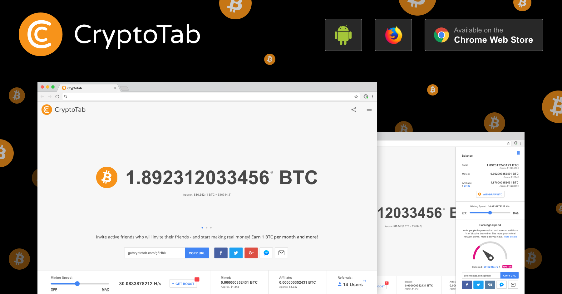 Earn Bitcoins while using Google Chrome